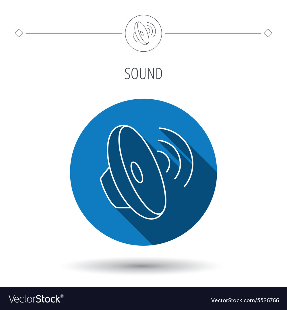 Sound waves icon Audio speaker sign