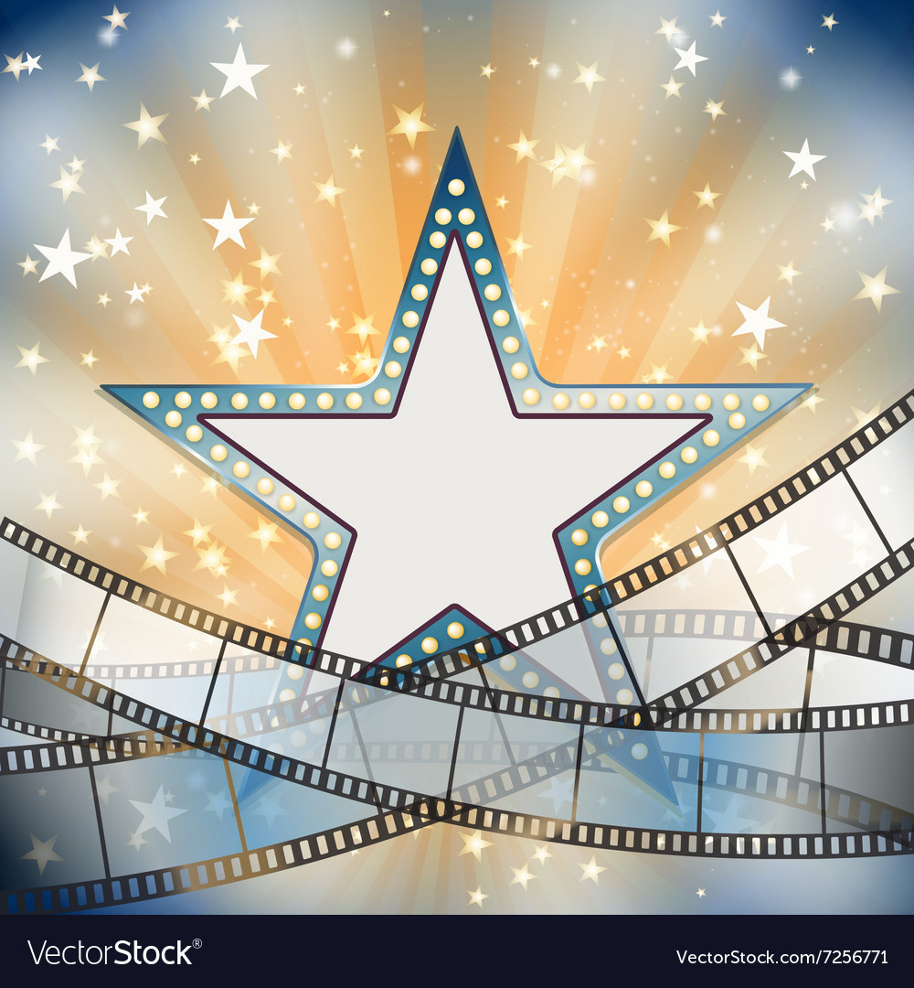 Abstract vintage cinema background