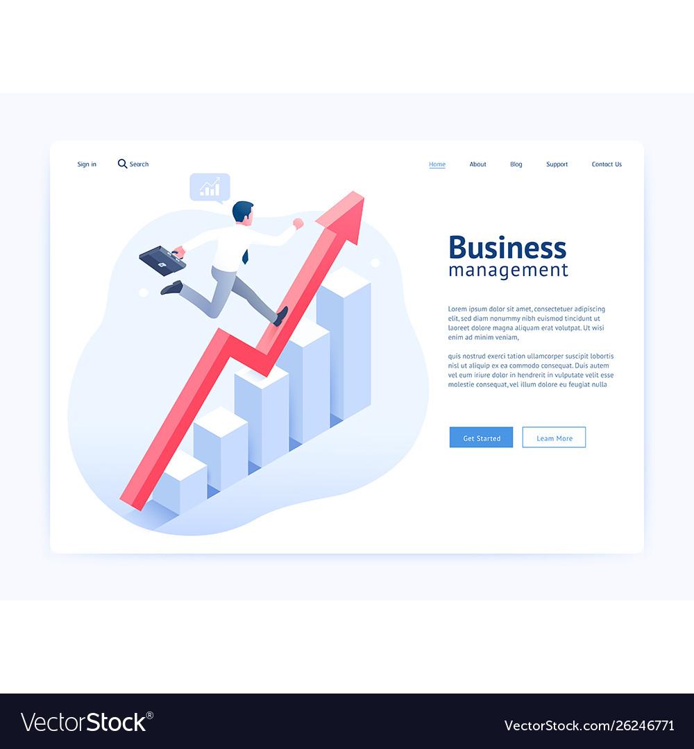 Business management website ui ux design