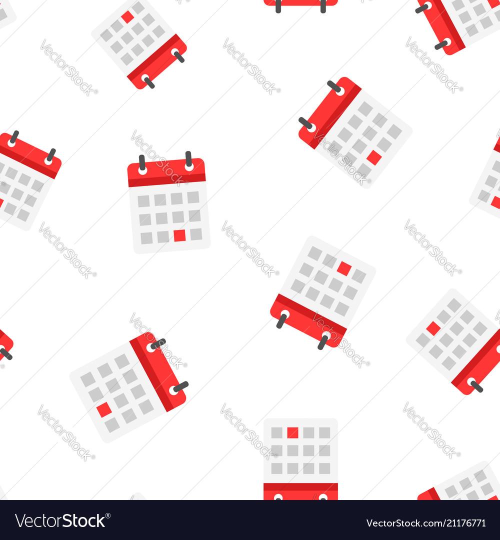 Calendar agenda icon seamless pattern background