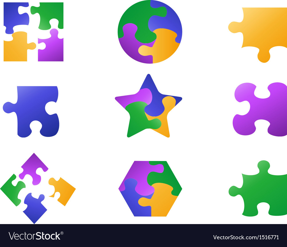 Color jigsaw puzzle icon