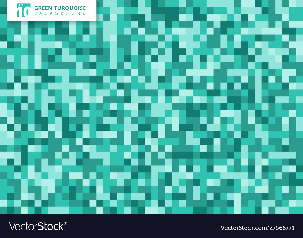 Green turquoise mosaic seamless pattern
