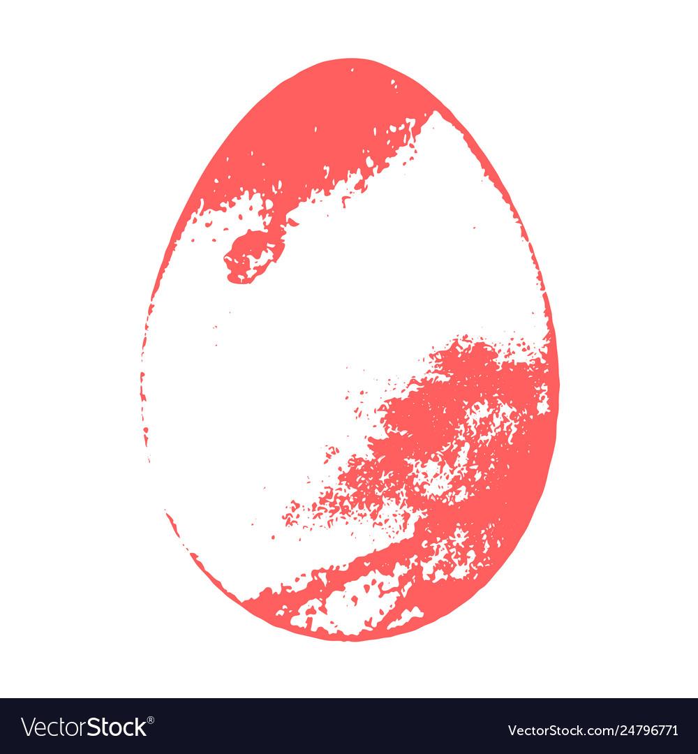 Grunge color egg