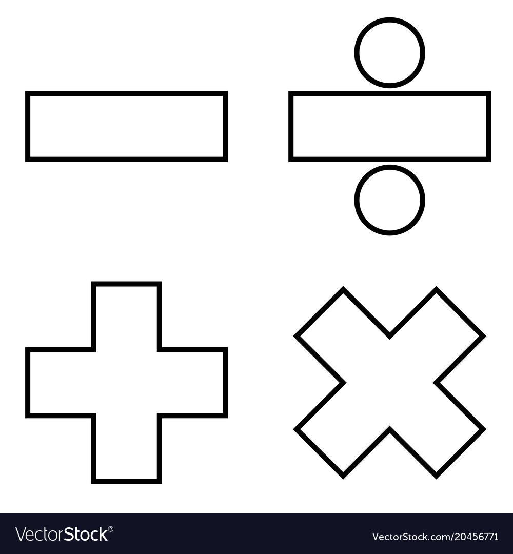 Math signs icon black color flat style simple Vector Image