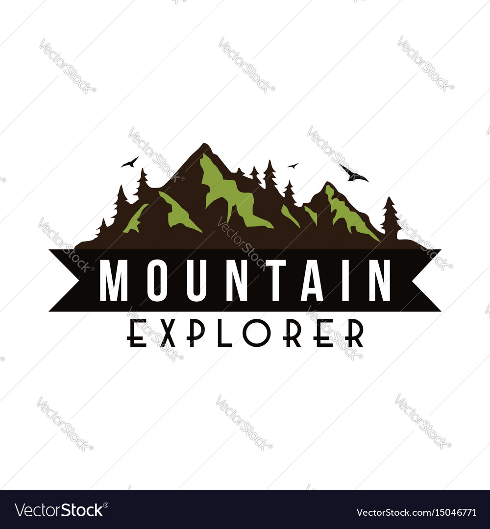 Mountain explorer adventure badge template