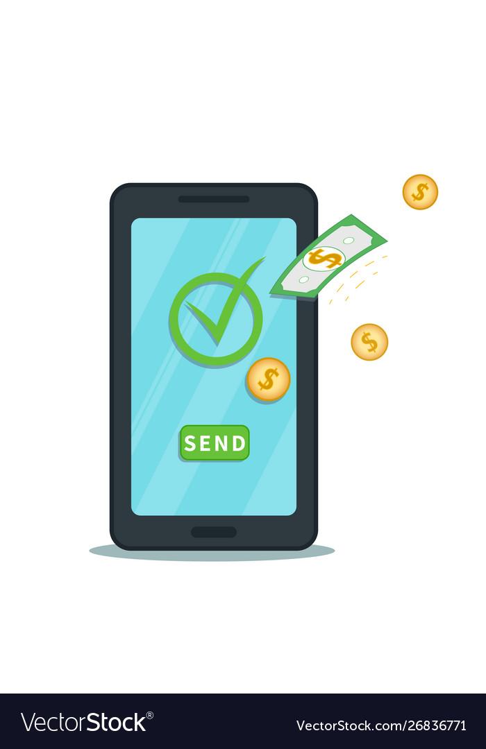 Mobile Digital Wallet Vector Image