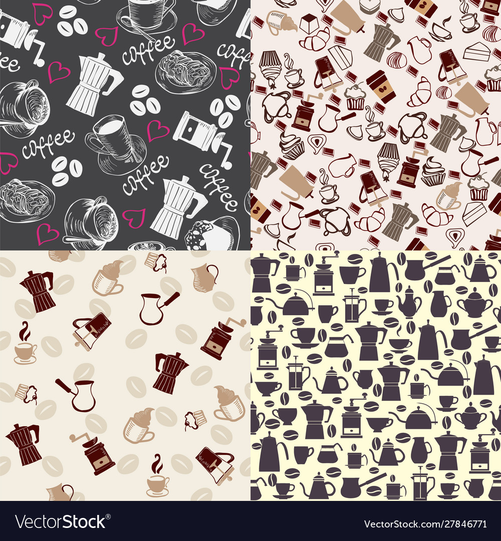 Set backgrounds can use for menu coffee shop or