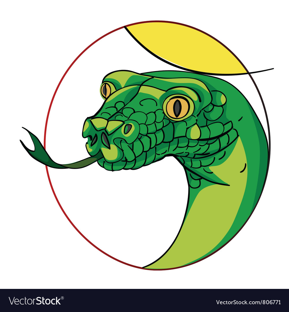 Snake sign vector image