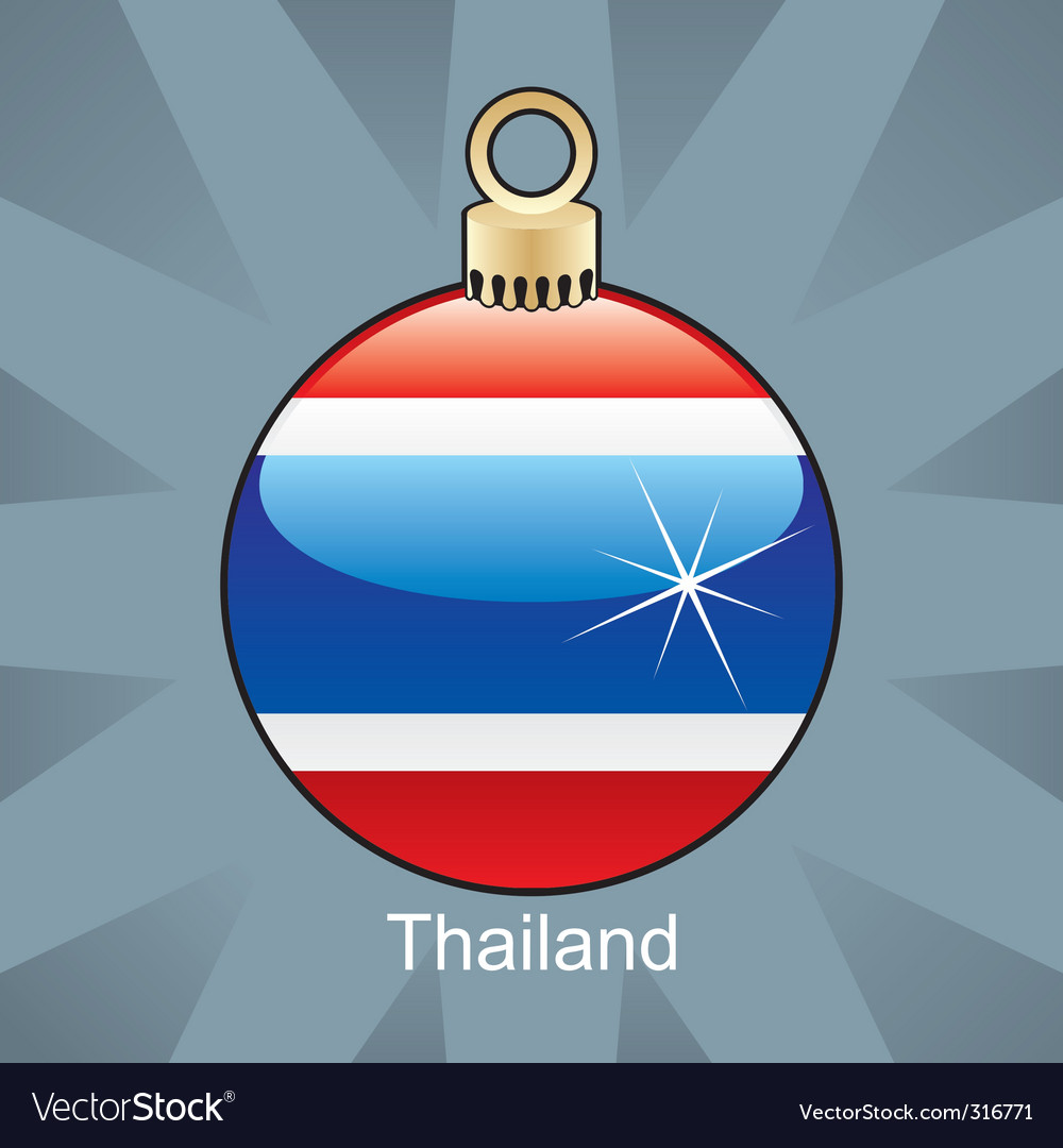Thailand flag on bulb