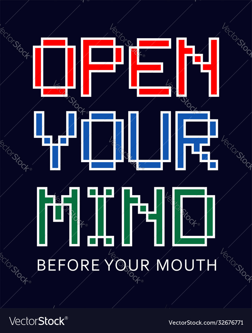 Typography open your mind