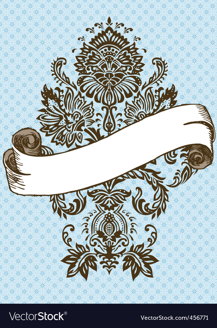 Vector Victorian ornament and scroll