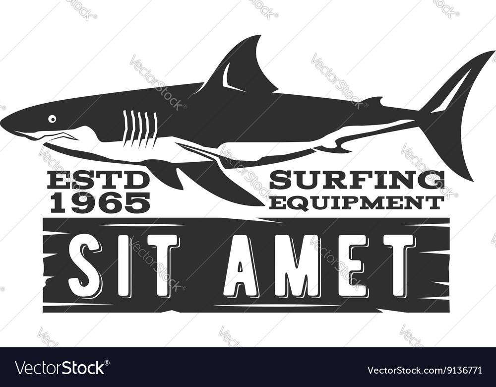 Vintage Surfing Store Badge design Surf gear shop