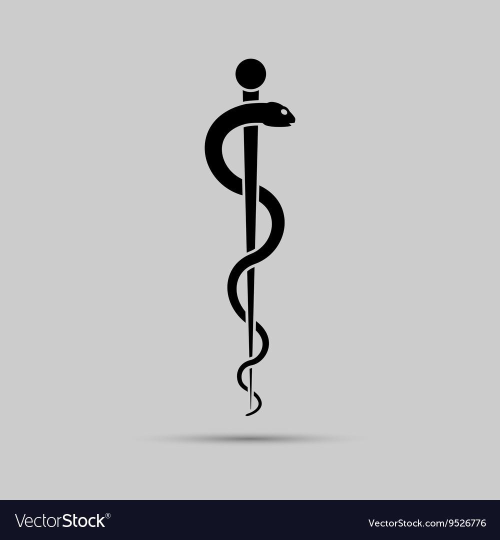 Aesculapius medical symbol or symbol featuring a