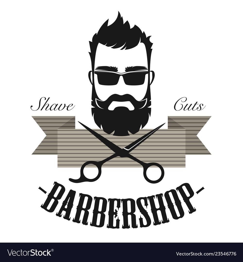 Barber shop vintage classic label badge emblem