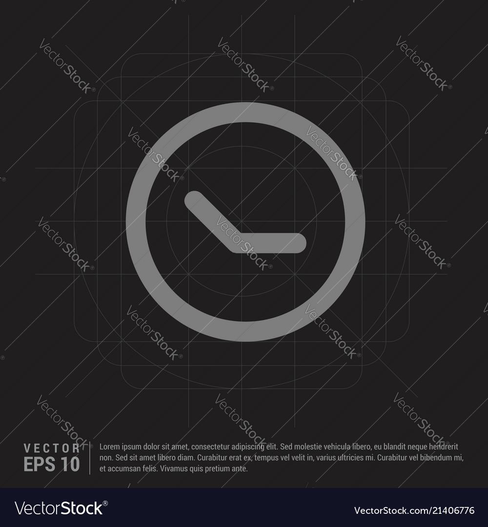 Clock icon - black creative background