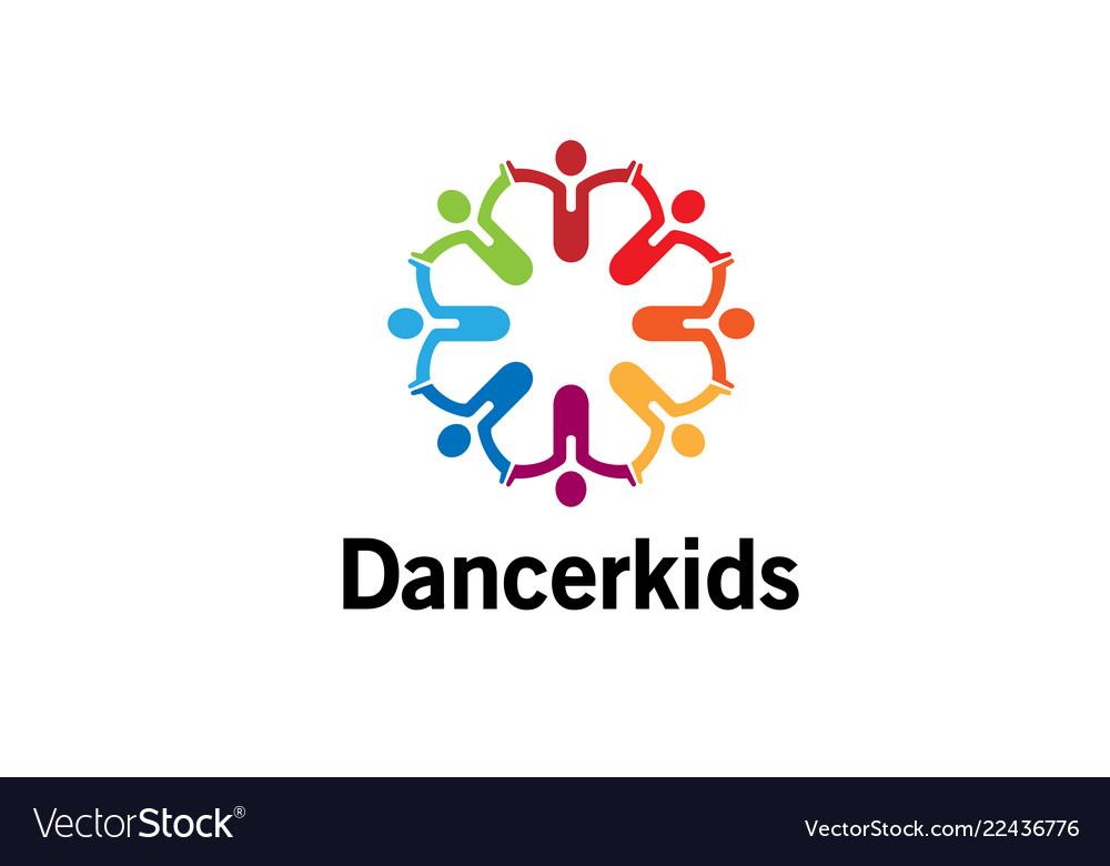 Creative colorful crowd logo