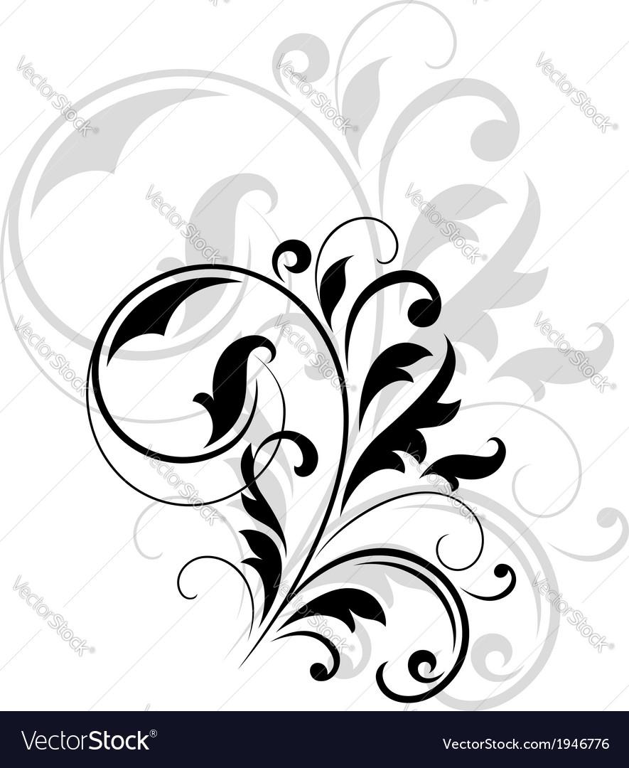 decorative floral motif royalty free vector image