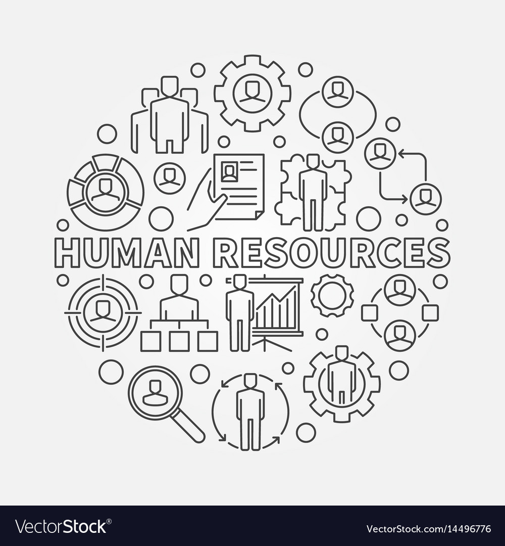 Hr outline vector image