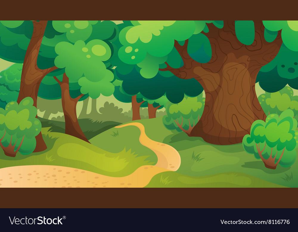 Oak Forest Game Background vector image