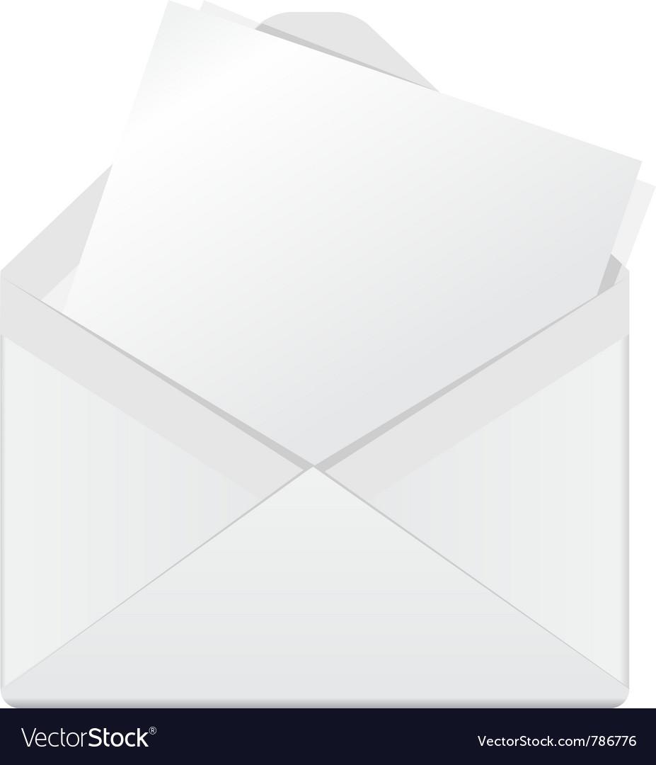 Open envelope Royalty Free Vector Image - VectorStock