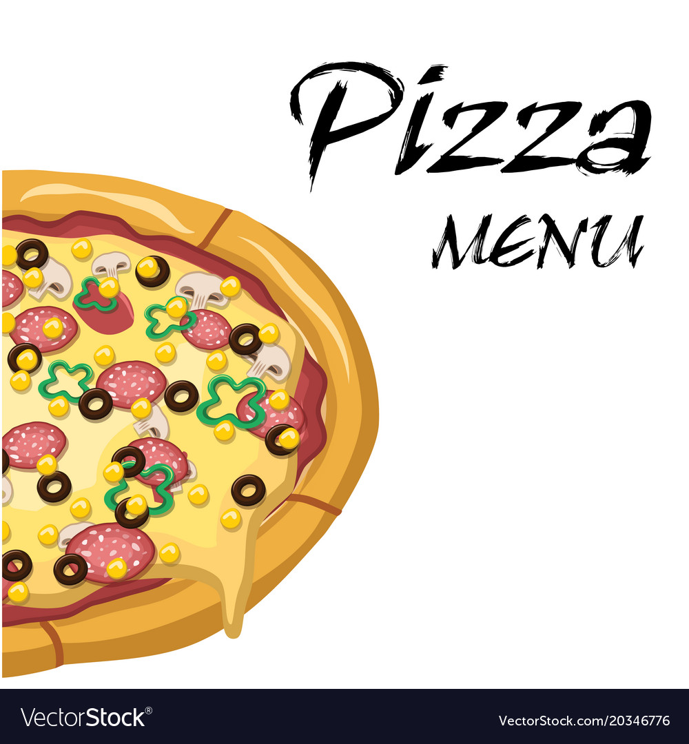 Pizza Menu Background Image Vector