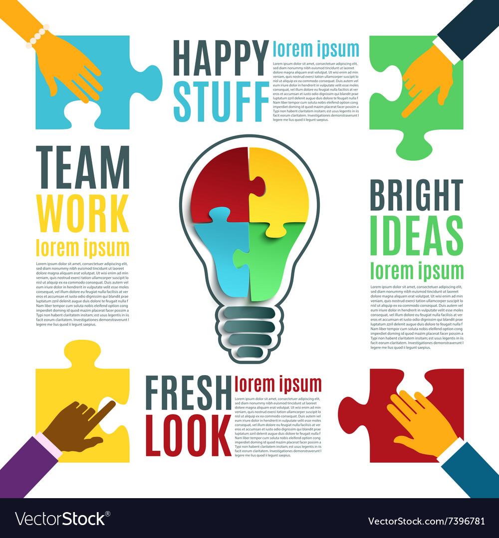 Bright idea creative conceptual background vector image