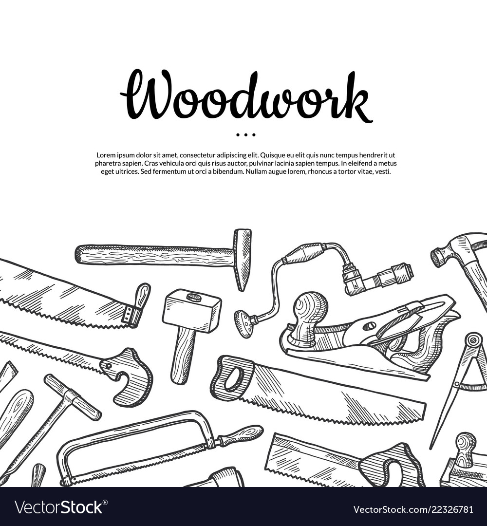 Carpentry background with place for text