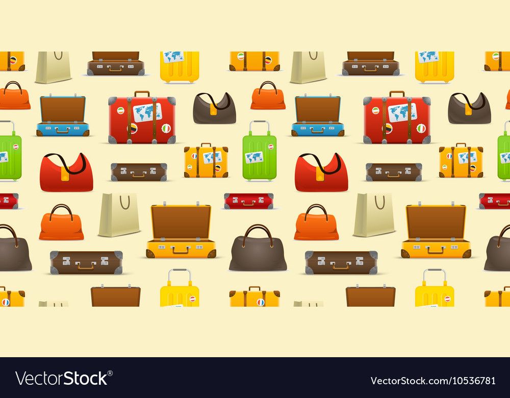 Different color travel bags collection Seamless