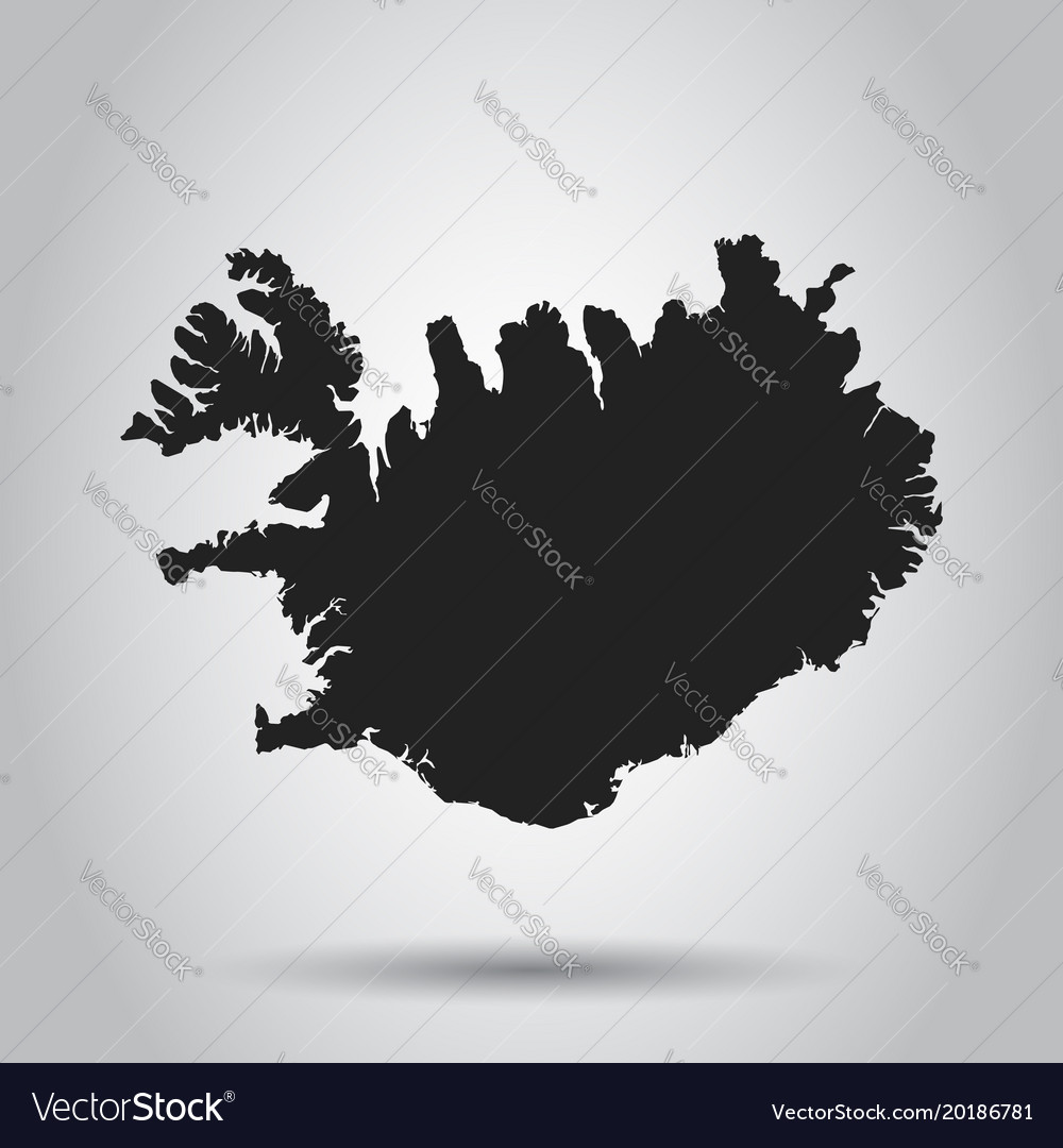 Iceland map black icon on white background vector image gumiabroncs Images