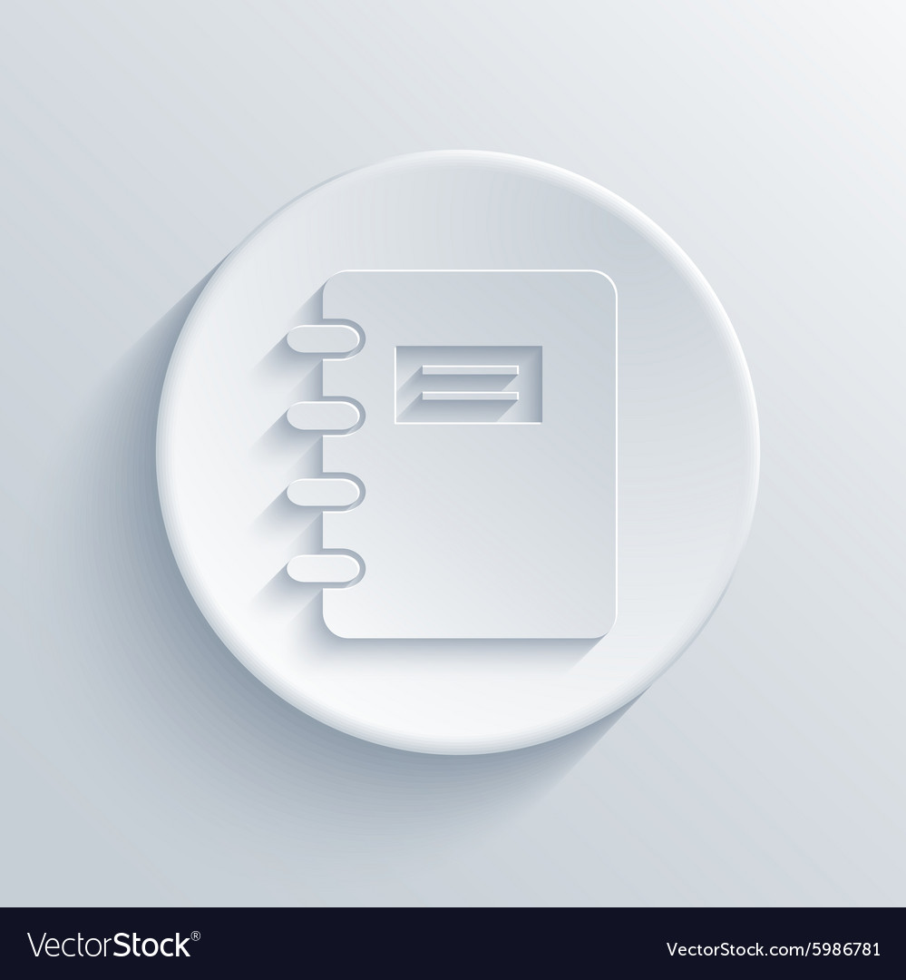 Modern light circle icon with shadow