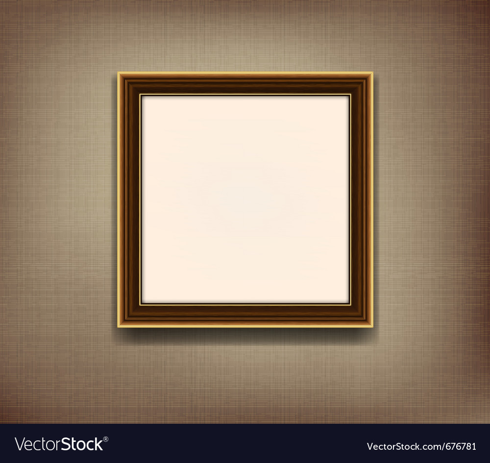 Old wooden frame Royalty Free Vector Image - VectorStock