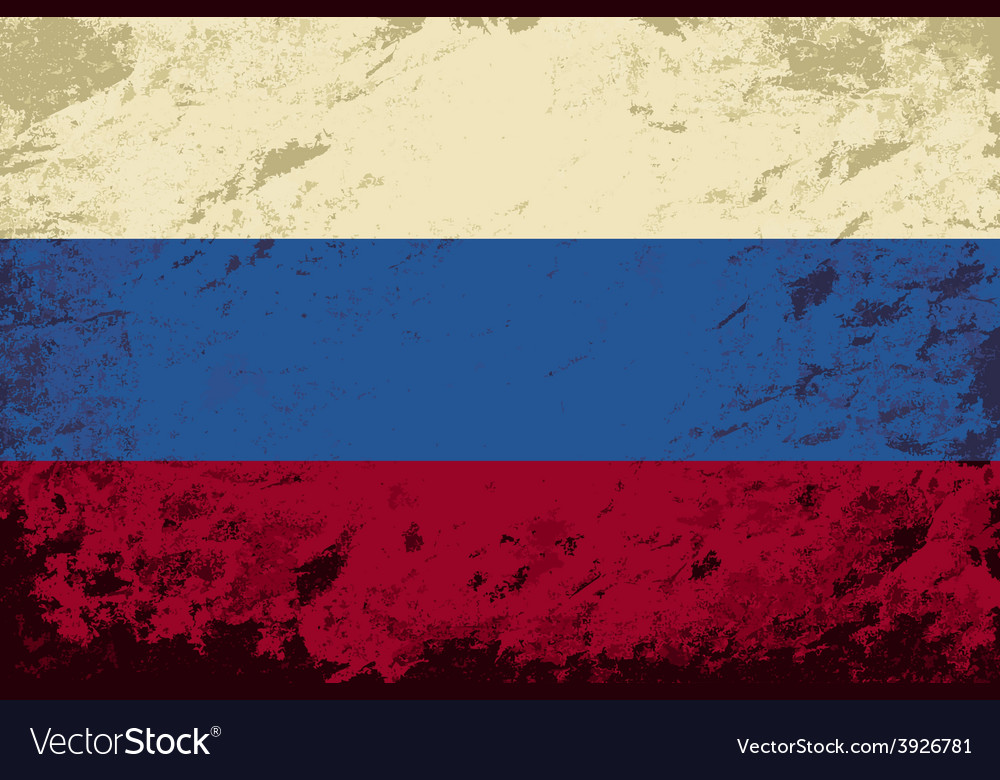 Russian flag Grunge background