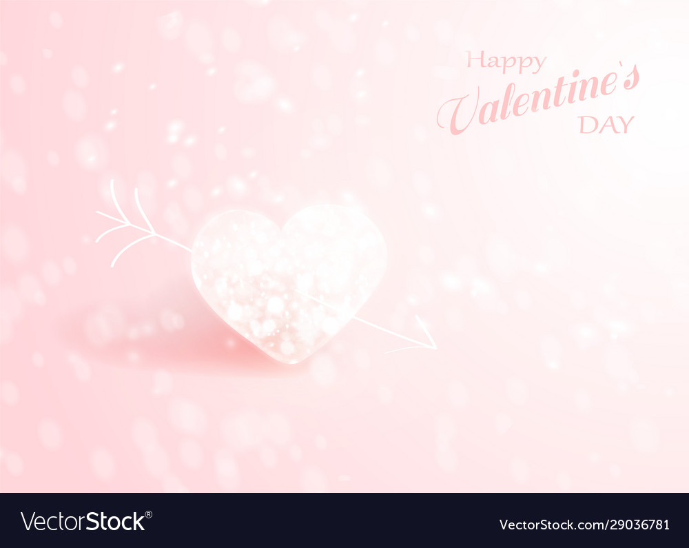 Shiny heart soft beautiful background