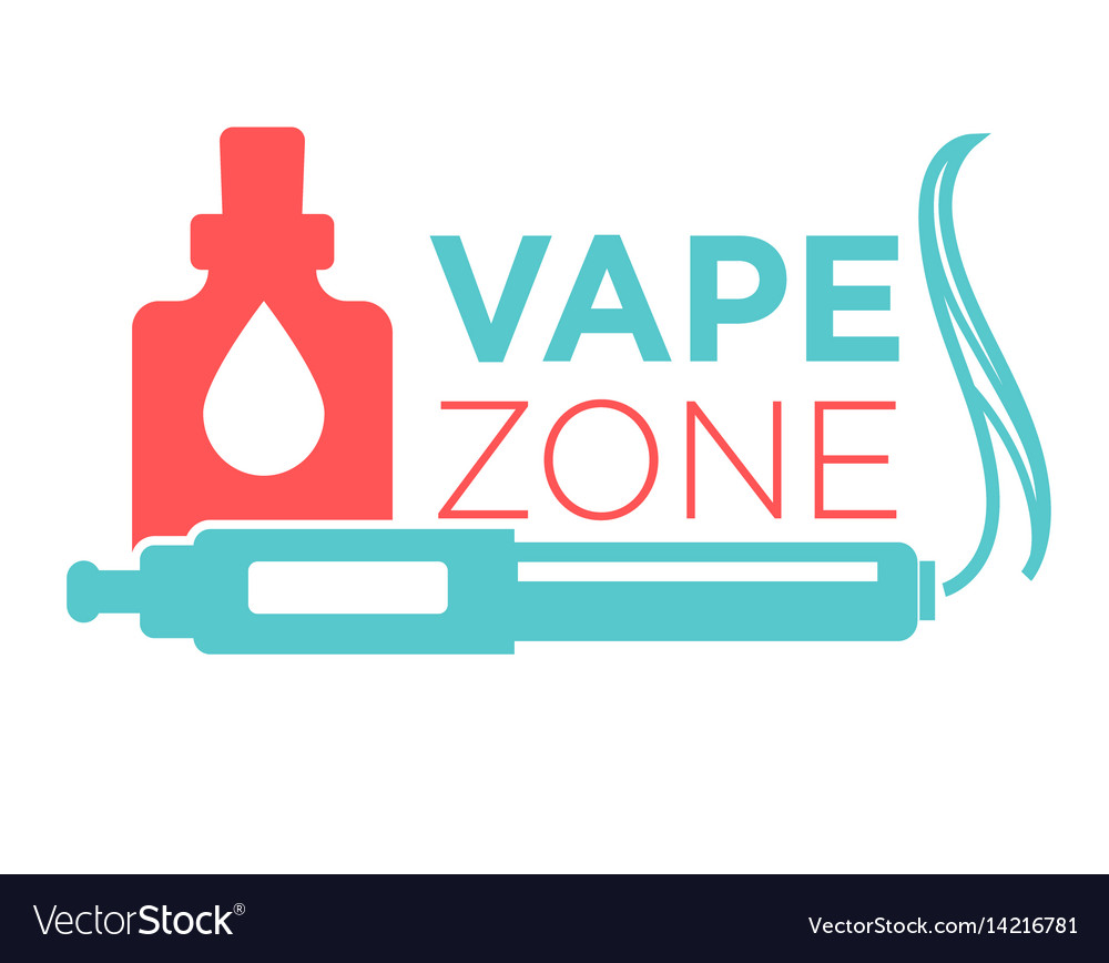 Vape zone start vaping logo isolated on white