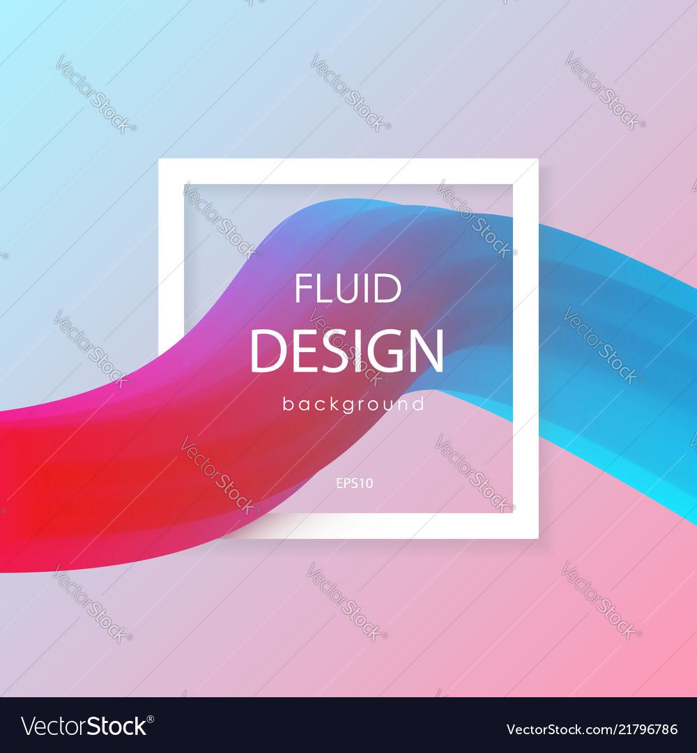 Abstract 3d liquid colorful shapes liquid color
