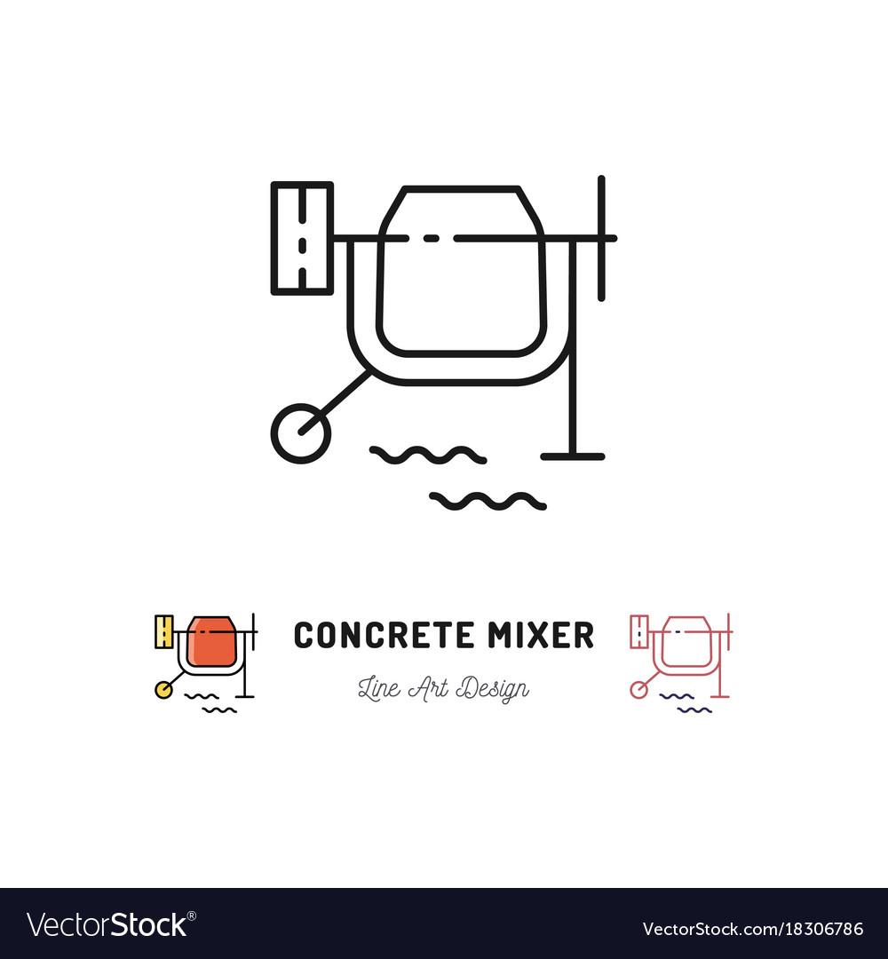 concrete mixer icon cement mixer sign vector 18306786 concrete mixer icon cement mixer sign royalty free vector