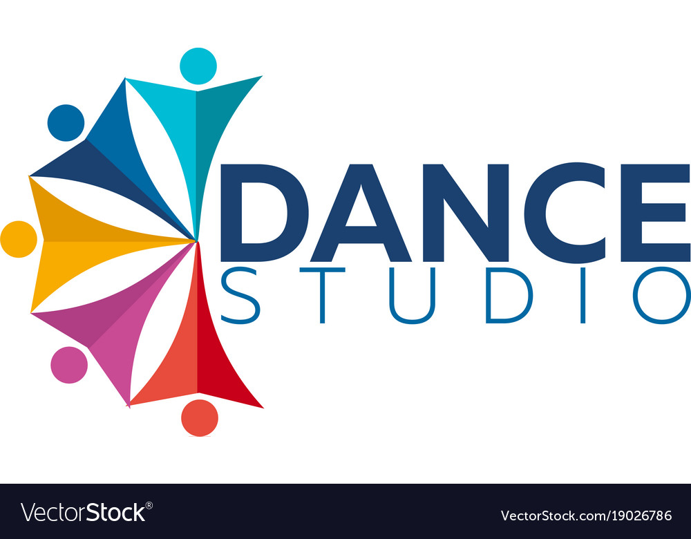 dance studio logo dancer logotype royalty free vector image rh vectorstock com dance studio logo maker dance studio logo vector