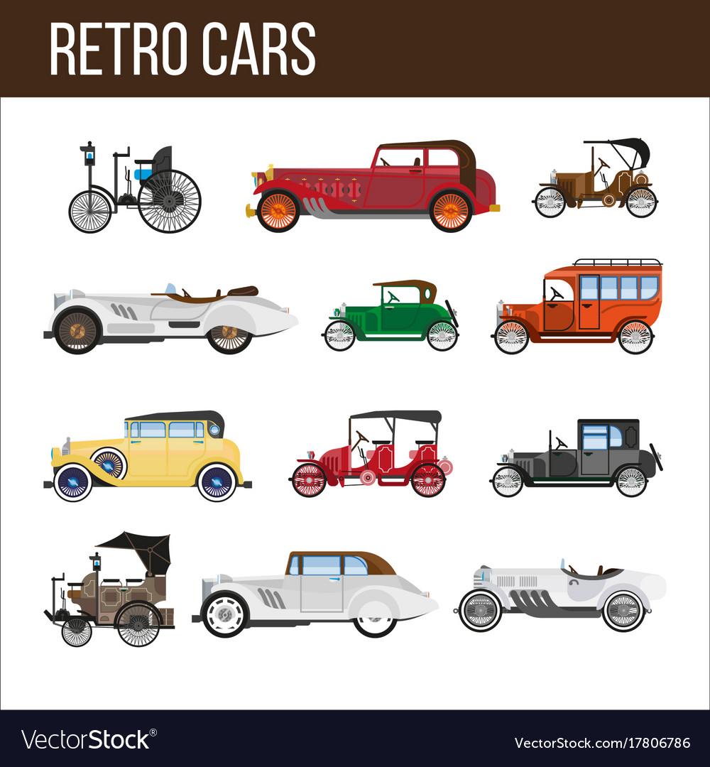 Retro cars with amazing vintage design