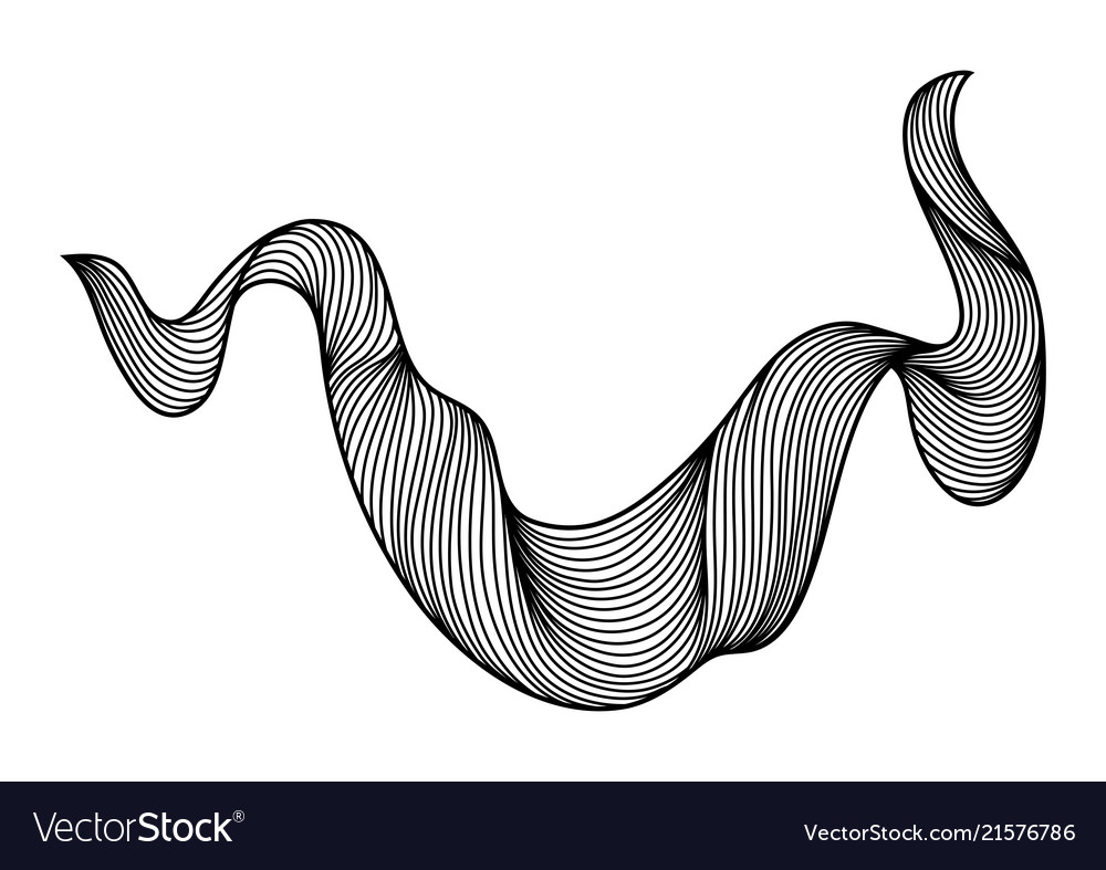 Wave hair line curl