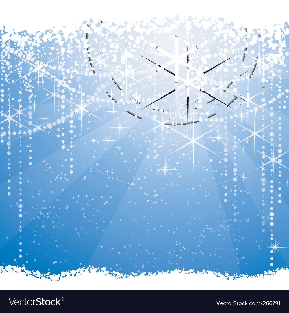 Christmas winter theme vector image
