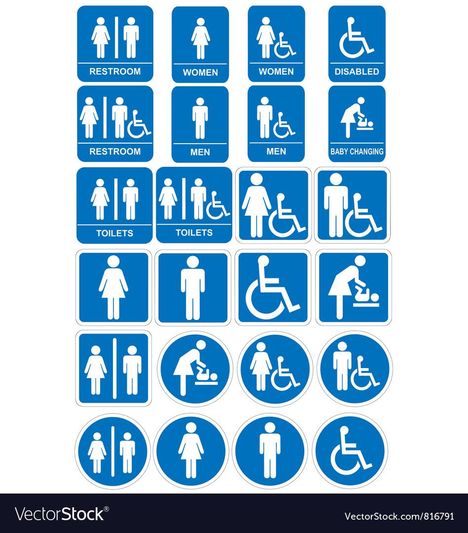 restroom signs. Interesting Restroom Restroom Signs Vector Image Intended Signs