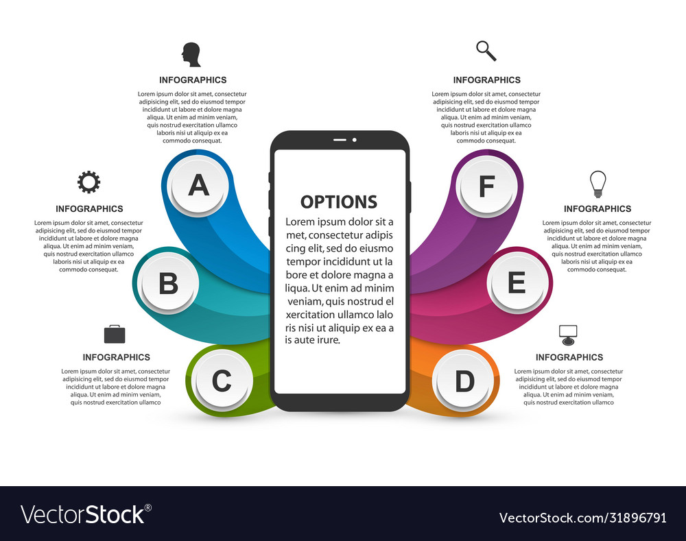 Technology infographics template