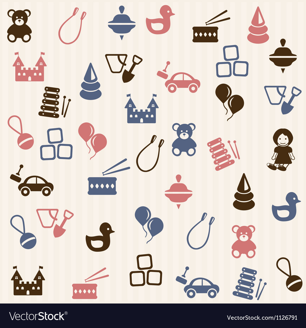 Toy seamless pattern