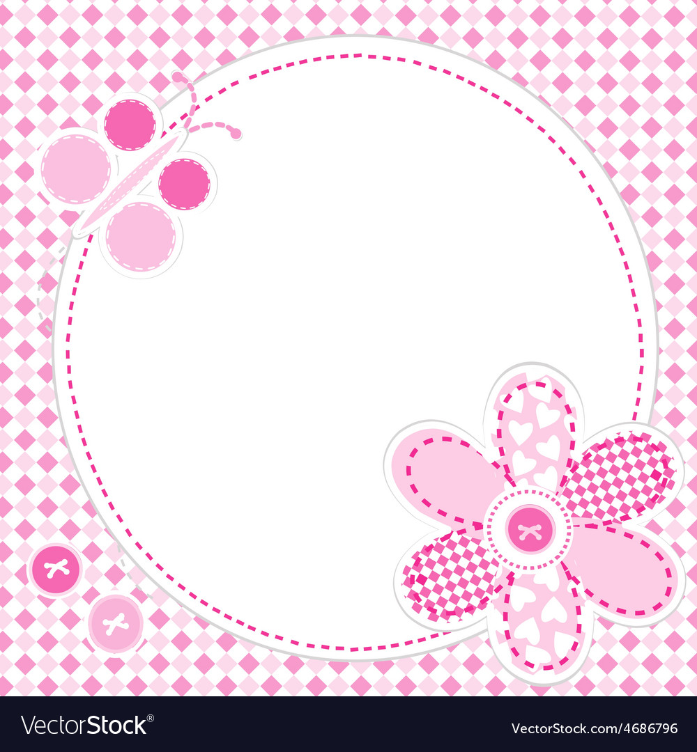 Baby girl greeting card royalty free vector image baby girl greeting card vector image m4hsunfo