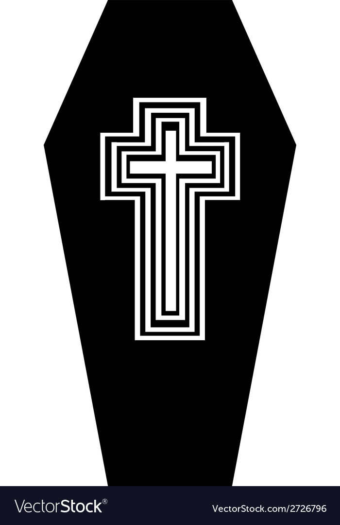 Coffin vector image