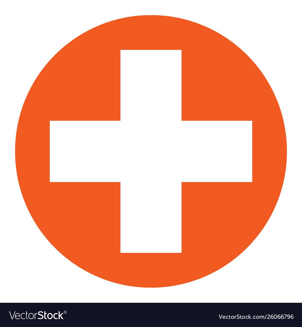 Cross red hospital medical sign symbol for