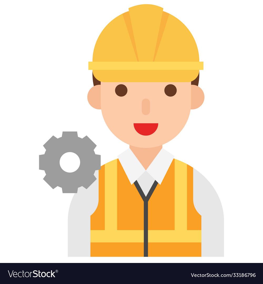 Engineer icon profession and job