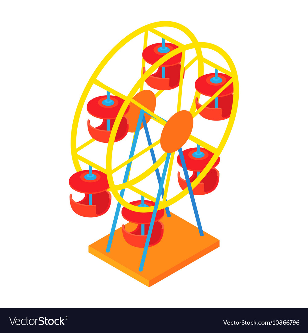 Ferris wheel icon cartoon style