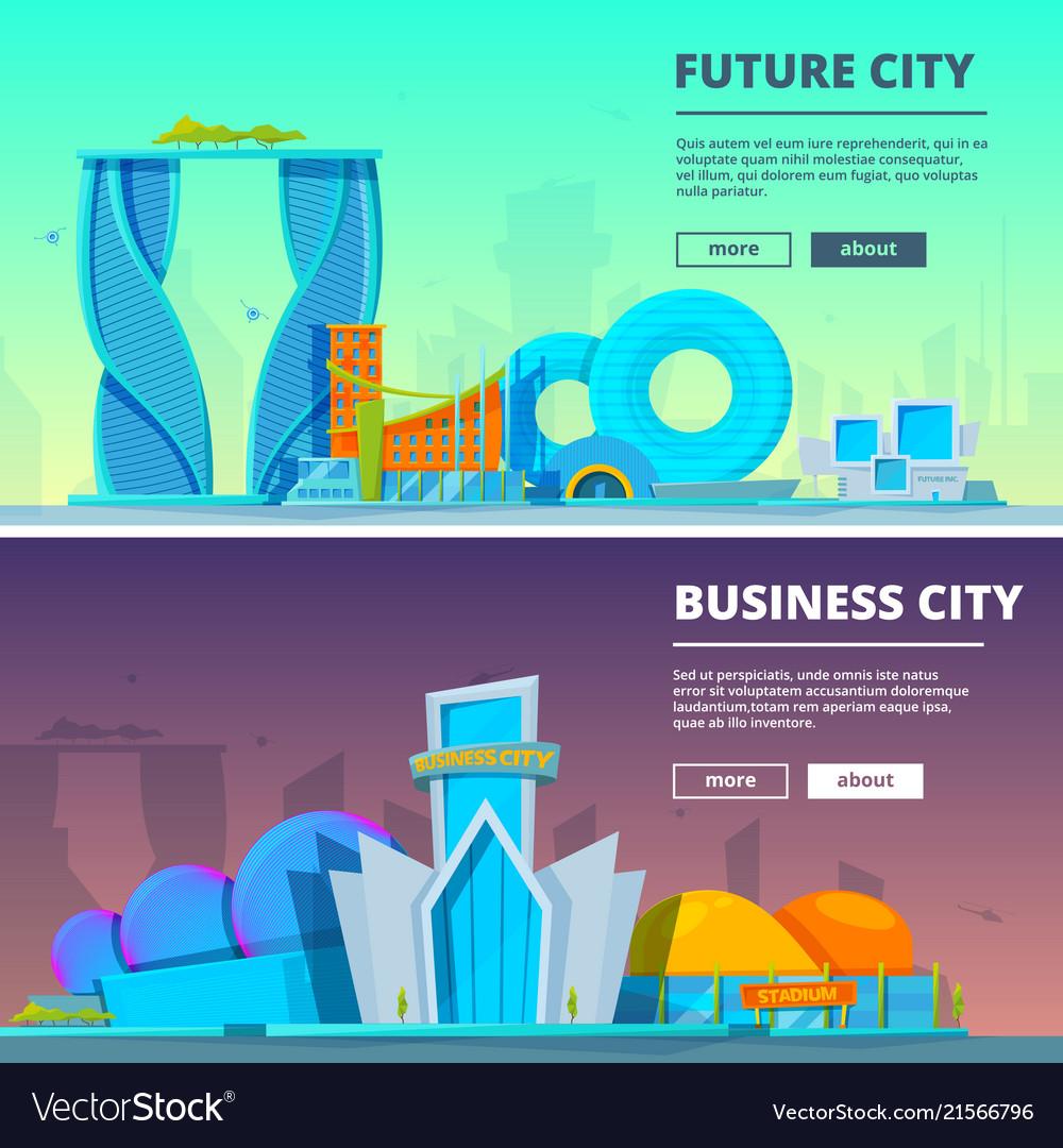 Futuristic buildings of