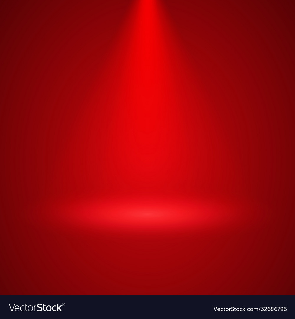 Red background with scenic spotlight illumination